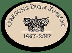 Oregon's Iron Jubilee logo