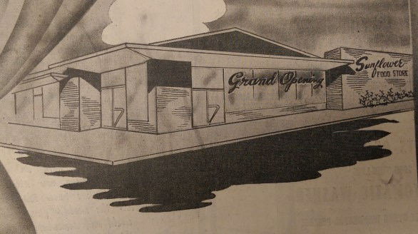 "The ""modernistic"" Sunflower Grocery, designed by Harold Kaplan, opened in 1959 in Greenville."