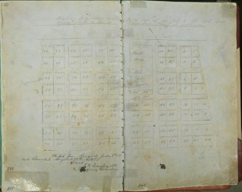 1856 Platt of Lake Village, Deed Book H, pg 339, Chicot County Courthouse