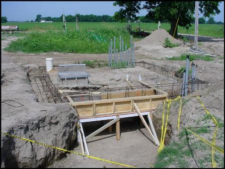 Smokehouse foundation with tunnel for duct work