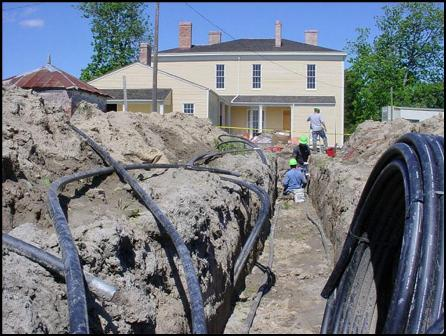 Installing tubing from 25 geothermal wells
