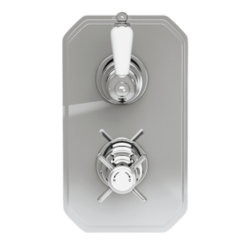 Edwardian Twin Concealed Thermostatic Shower Valve