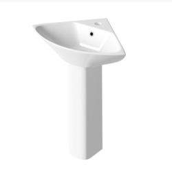 450mm Corner Basin & Pedestal