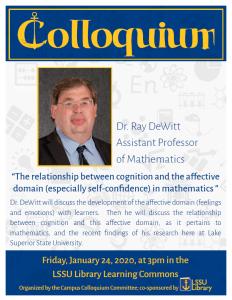 Dewitt Colloquium Poster