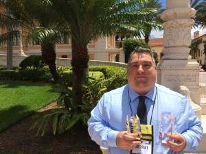 The Laker news editor Michael Hinman won two reporting awards at the Florida Press Association's annual conference Friday in Coral Gables. (Photo by Karel Ortiz-Tavarez)
