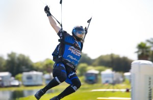 Florida resident and reigning national champion Tommy Dellibac will be among the competitors vying for gold at the World Canopy Piloting Championships in Zephyrhills. (Courtesy of Randy Swallows)