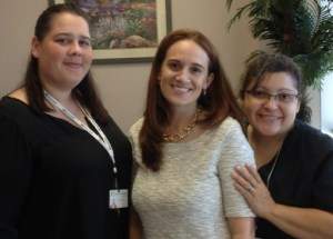 My Gynecologist's Pasco office staff are Kristina, Dr. Gomez and Doris.