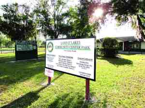 The Land O' Lakes Community Park is being upgraded. Sanders Memorial STEAM Magnet School, which sits right behind it, also is in the midst of a major reconstruction project. The county and school district are working together to share facilities for various uses. (B.C. Manion/Staff Photo)