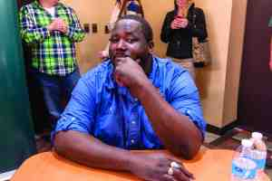 Actor Quinton Aaron brought his anti-bullying campaign to Saint Leo University on  Jan. 27, as the university is founded on a core value of respect—one of six core values. (Courtesy of Jonathan Shoemaker)