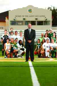 Fran Reidy oversees 19 different sports at Saint Leo University, but that wasn't the case when he took the job 16 years ago. They had just 10 sports back then, and only eight when he was the men's soccer coach 28 years ago. (Courtesy of Saint Leo University)