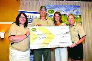 The check presented by PCL Civil Constructors was impressive, but the total actually grew to more than $70,000 when all was said and done. (Courtesy of Mark Eveld)