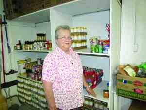 Sister Jean Abbott, who oversees Daystar Hope Center of Pasco County Inc., said she hopes that changes being made by Feeding America Tampa Bay will allow her agency to pick up donations from food suppliers closer to her food pantry. (B.C. Manion/Staff Photos)