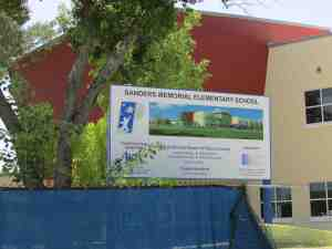 Construction continues at Sanders Memorial Elementary School, which is set to focus on science, technology, engineering, the arts and mathematics. (B.C. Manion/Staff Photos)