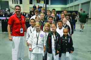 Members of the Keiko Shin Karate Academy brought home numerous honors from a recent karate competition. (Courtesy of Keiko Shin  Karate Academy)
