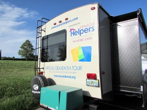 This mobile unit is rigged to give people an opportunity to experience the impacts of dementia. The idea is to promote greater awareness, sensitivity and empathy for caregivers of people experiencing dementia.