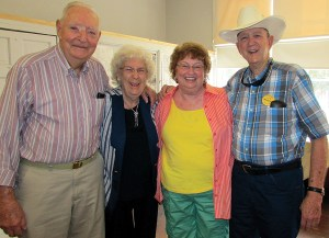 Joe Strickland, Margie Strickland, Annie Fernandez and Bodde O' Steen pose together at the annual gathering for the descendants of Lutz and Land O' Lakes pioneers.