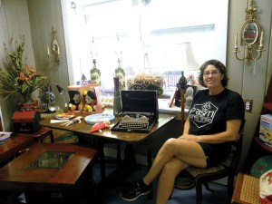 Laura Sanderson is putting her golf career on hold for another passion – antiques. She opened Shabby Shack in October.