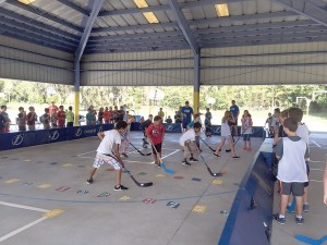 Chester Taylor Elementary students learn about the game of hockey during a recent street hockey clinic led by personnel from Tampa Bay Lightning. (Photos courtesy of Pasco County Schools)