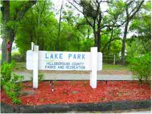 Lake Park, a popular regional park in Lutz, is closed until further notice. Hillsborough County, which operates the park, has confirmed the presence of a sinkhole and has closed the park as a matter of public safety. (Photos courtesy of Hillsborough County