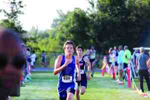 Jaret Harshman, shown as the lead runner here, was a devoted member of the cross-country team at Wesley Chapel High School. He died from injuries sustained in a Dec. 9 car accident. (Courtesy of Wesley Chapel High School)