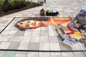 BK Lyons, who created this piece of chalk art, will be one of the chalk artists featured at the 11th annual Suncoast Arts Fest later this month (Photos courtresy of Suncoast Arts Fest)