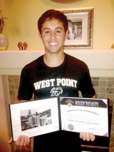 Freedom High senior Dean LaGattuta received his appointment to the U.S. Military Academy on Jan. 20. He accepted his appointment on Jan. 31. (Courtesy of Dean LaGattuta)