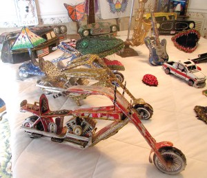 Steven Spittka creates everything from classic cars to musical instruments out of empty soda cans, hot glue and paint.