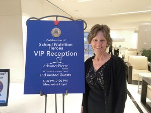 Suellen Smith gets ready to attend a reception honoring her and four other School Nutrition Heroes from across the country during an event in Washington D.C.