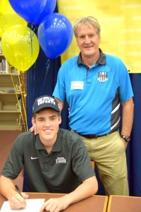 Connell, left, was accompanied by his father Mike on National Signing Day on Feb. 3. Connell's father played for the Tampa Bay Rowdies in the '70s and '80s. (Photos courtesy of Mike Connell)