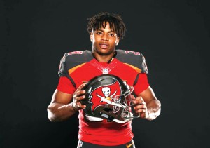 Wharton High alum Vernon Hargreaves III was drafted in No. 11 overall by the Tampa Bay Buccaneers in the 2016 NFL Draft on April 29. (Courtesy of Tampa Bay Buccaneers)