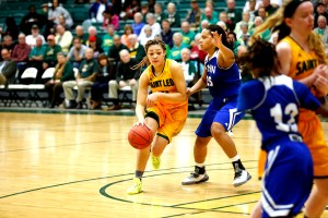 Senior guard Chelsy Springs is one key player returning for Saint Leo in the 2016-2017 season. Springs led the team in scoring (16.2 points per game) and rebounding (7.6 rebounds per game) last season.