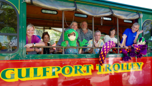 Visitors to Gulfport enjoyed their trip on the Gulfport Shopapalooza Trolley at the GeckoFest. (Photos Courtesy of the Gulfport Merchants Association)