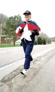 Terry Hitchcock ran more than a marathon a day for 75 days back in 1996. A marathon is 26.2 miles. (Courtesy of Terry Hitchcock)