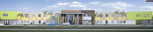 This is what the new high school being built on Old Pasco Road is expected to look like, at completion. The school initially will be used for a high school and a middle school, because Pasco County Schools needs to accommodate more middle and high school students, but cannot afford to build schools for both.