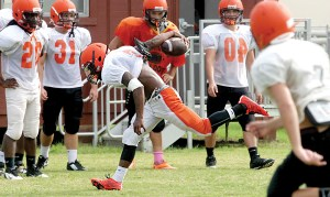 Players like Myles Carter (No. 3) will be expected to step up for a Zephyrhills team that lost several impact players from last season. (File Photo)