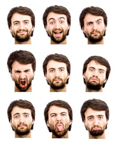 Your face has nearly 100 muscles, and every part of it can be expressive.