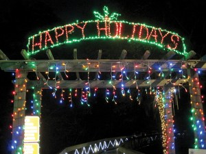 The lighted entryway at the Florida Botanical Gardens sums up the sentiment of many holiday events in The Laker/Lutz News coverage area and the Tampa Bay region. (File Photo)