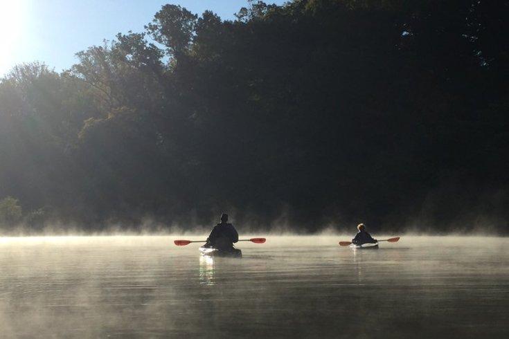 Kayaks on Lake