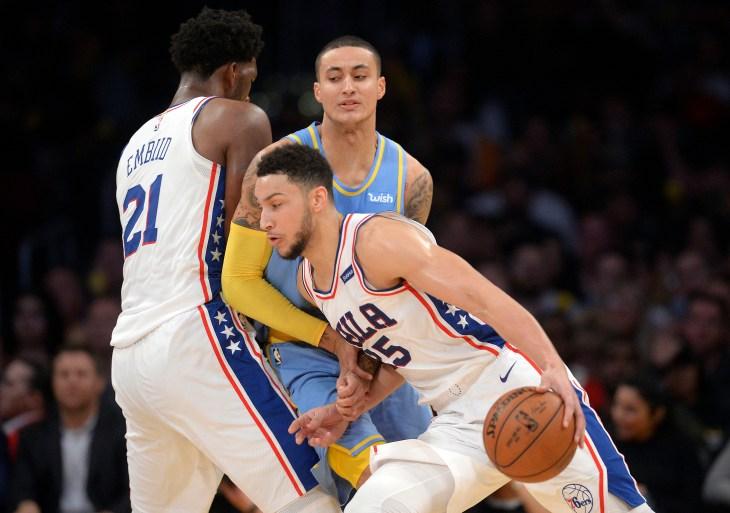 NBA: Philadelphia 76ers at Los Angeles Lakers