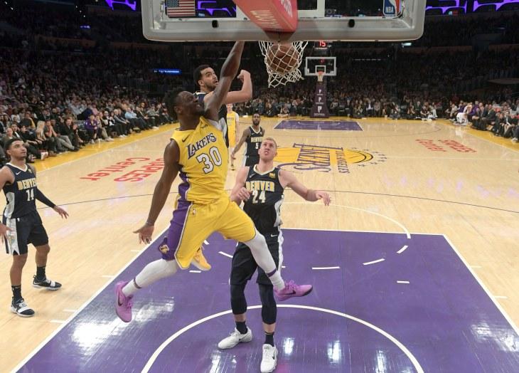 NBA: Denver Nuggets at Los Angeles Lakers