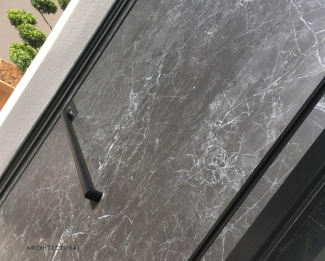 Black Marble Front Door