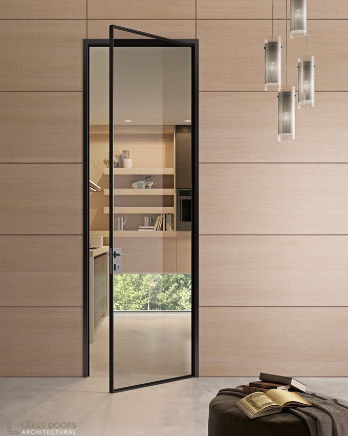 Glass Door with Wall Panelling