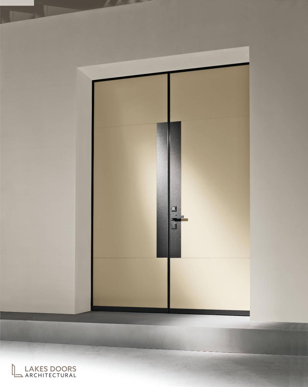 Double Door Leather Clad