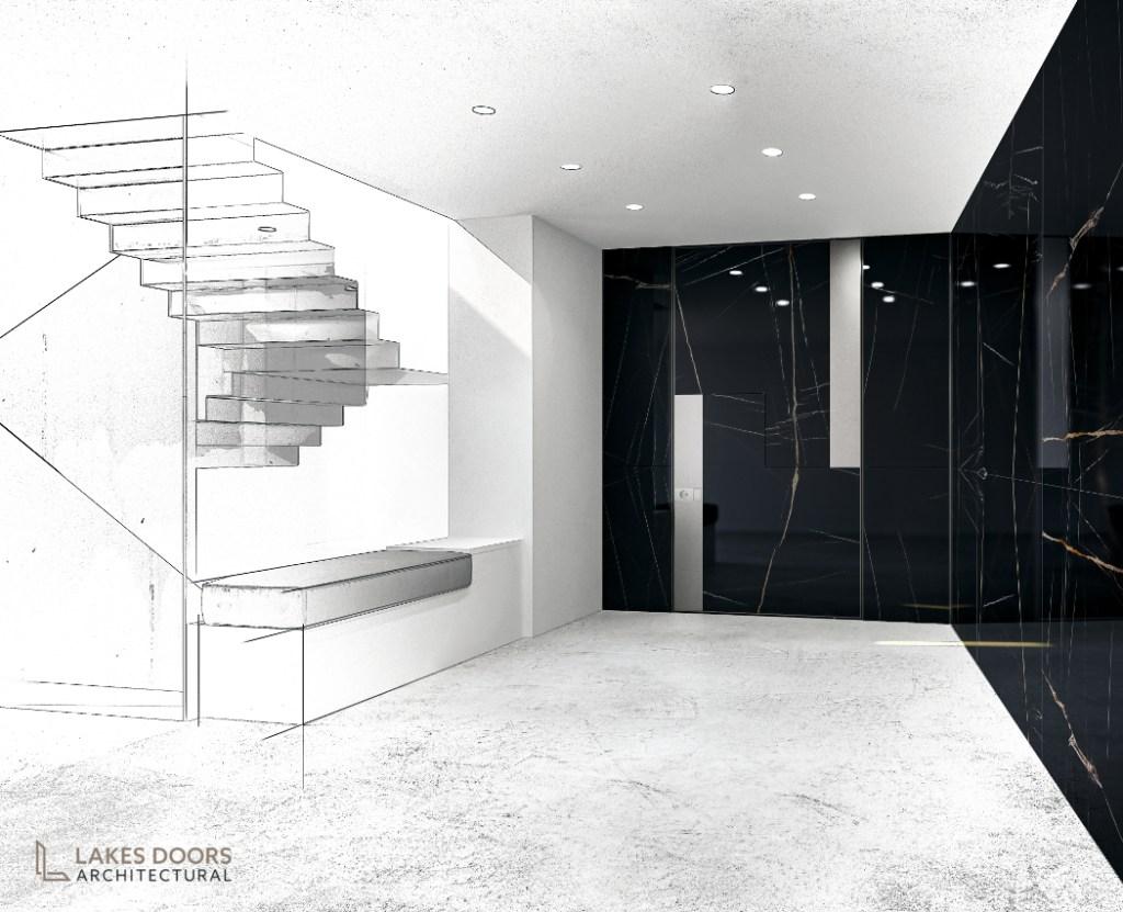 Black Marble Door