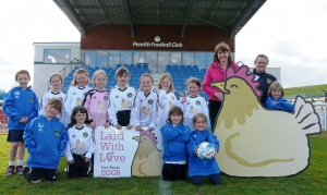 Penrith Angels Under 8 team sponsored by Laid With Love from the Lakes Free Range Egg Co