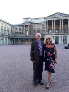 David and Helen Brass at Buckingham Palace