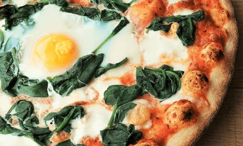 Egg Florentine Pizza