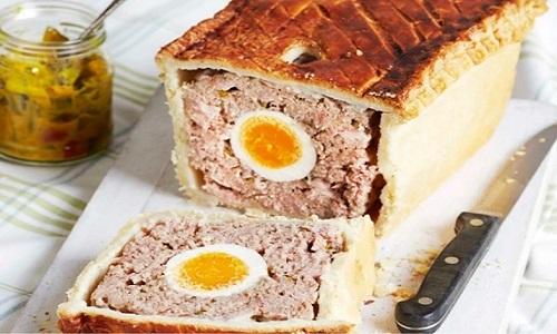 picnic pork and egg pie