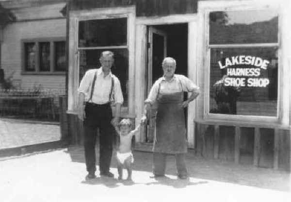 Lakeside Harness & Shoe Shop 1920s