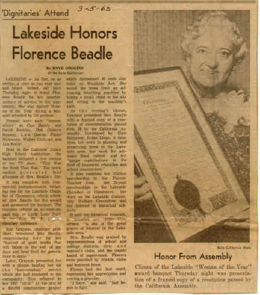 1965 Flossie as Woman of the Year